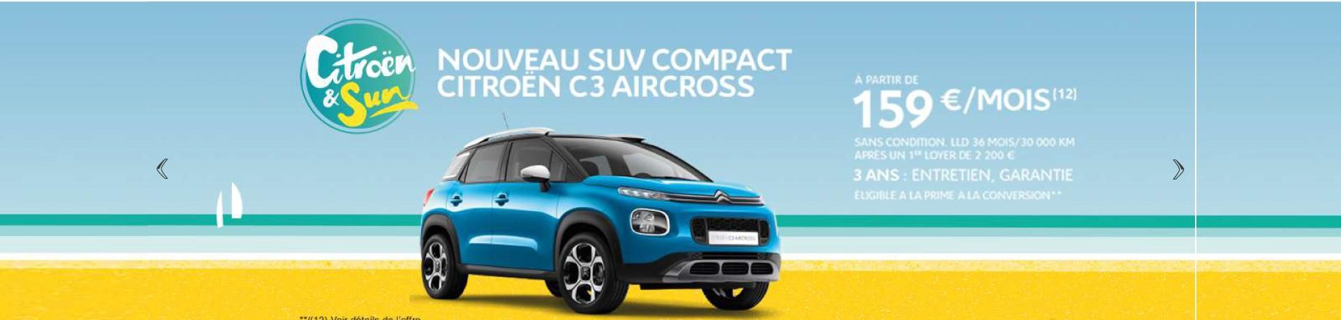 Nouveau SUV Compact Citroën C3 à Chalais